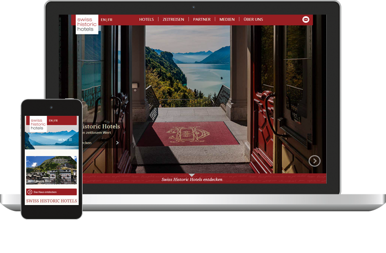 Swiss Historic Hotels Webdesign